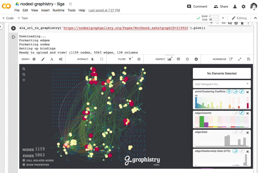 NodeXL in Graphistry